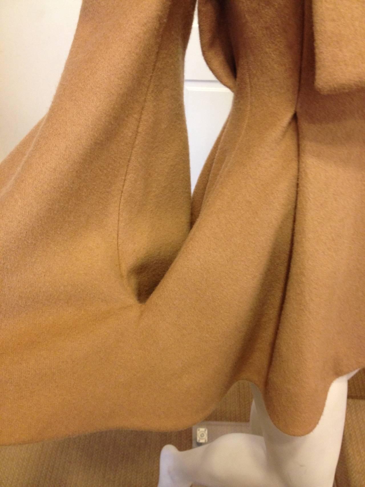 Alexander McQueen Camel Cape-Coat 5