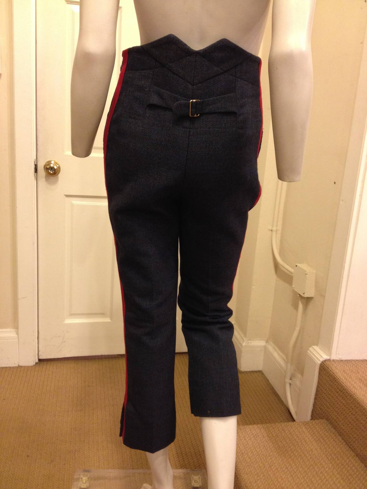 Louis Vuitton Navy Pants with Red Stripe 4