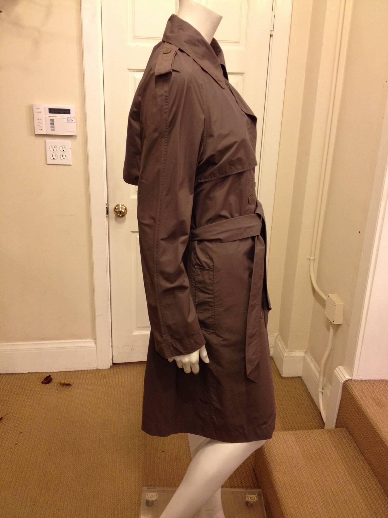 Brown Lanvin Dark Taupe Trenchcoat For Sale