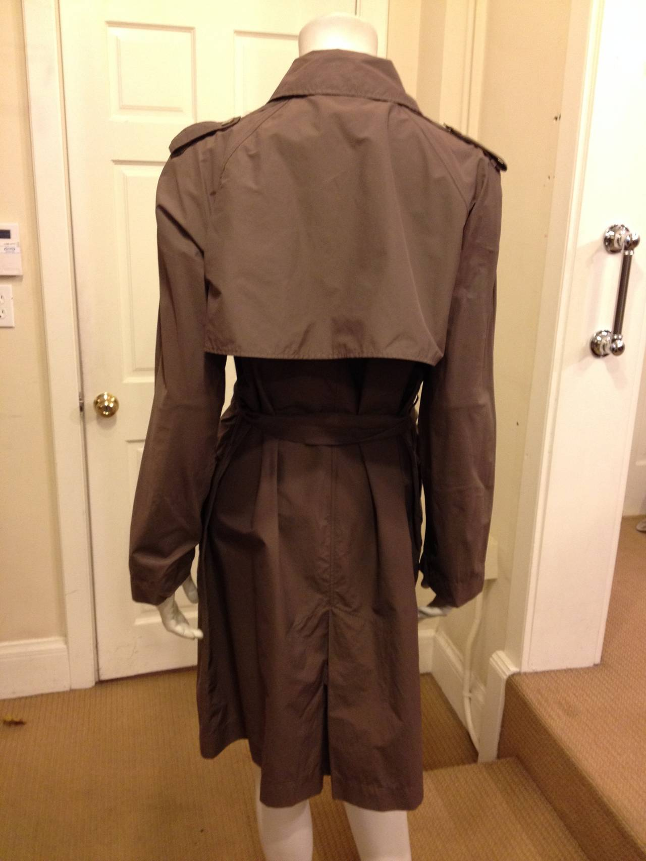 Lanvin Dark Taupe Trenchcoat In Excellent Condition For Sale In San Francisco, CA