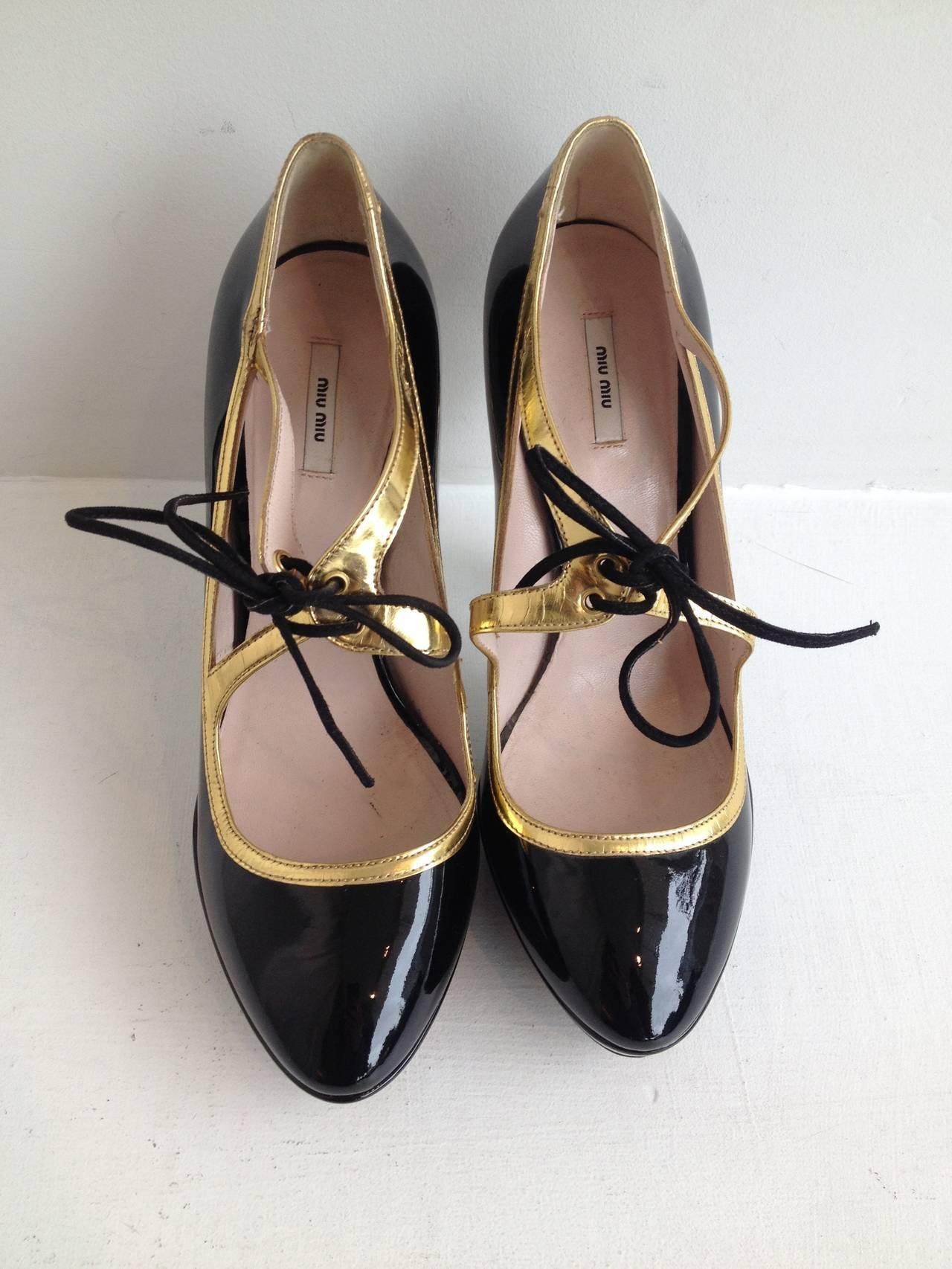 Miu Miu Black Patent Teacup Heels 2