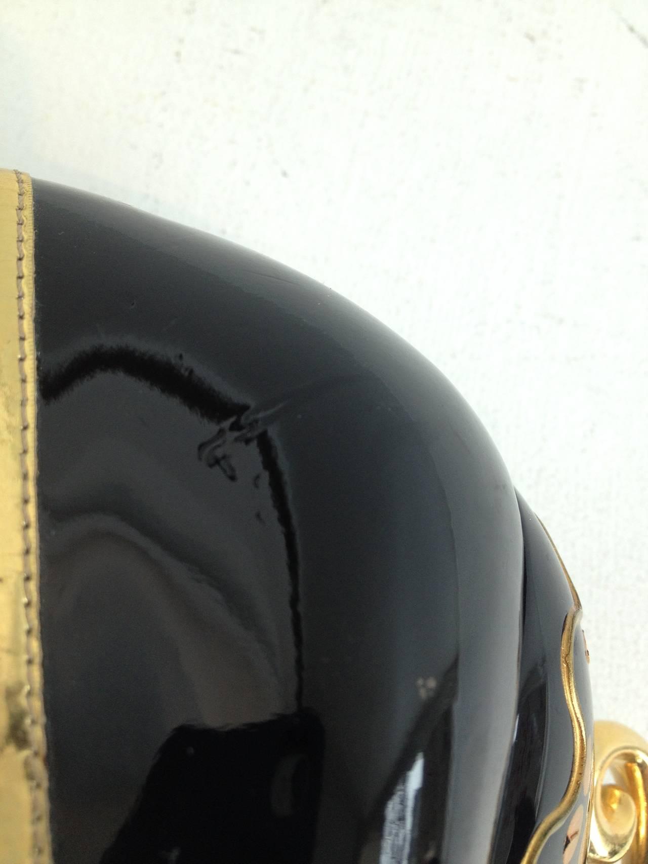 Miu Miu Black Patent Teacup Heels 7
