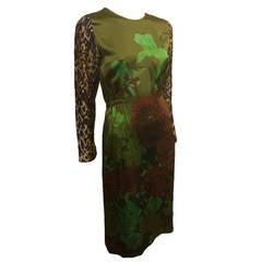 Dries Van Noten Green Floral Dress
