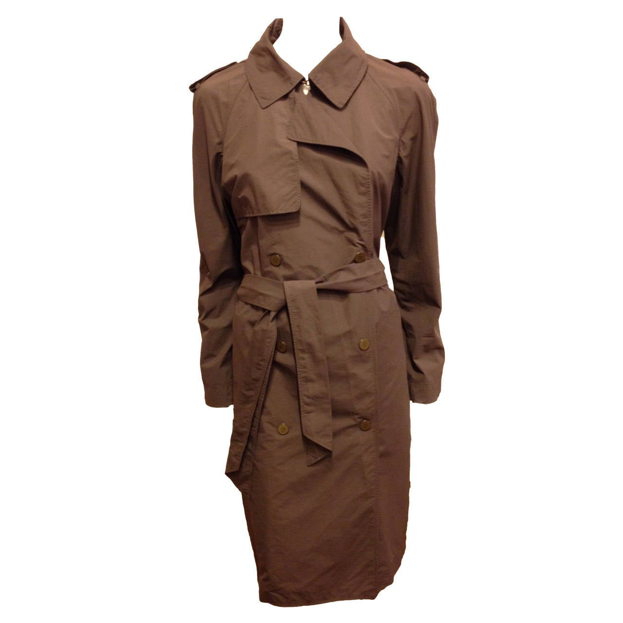Lanvin Dark Taupe Trenchcoat For Sale