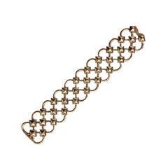 Hermes Silver Pyramid Link Bracelet