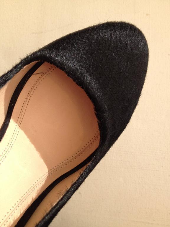 Celine Black Ponyhair Heels Size 37 (6.5) For Sale 1