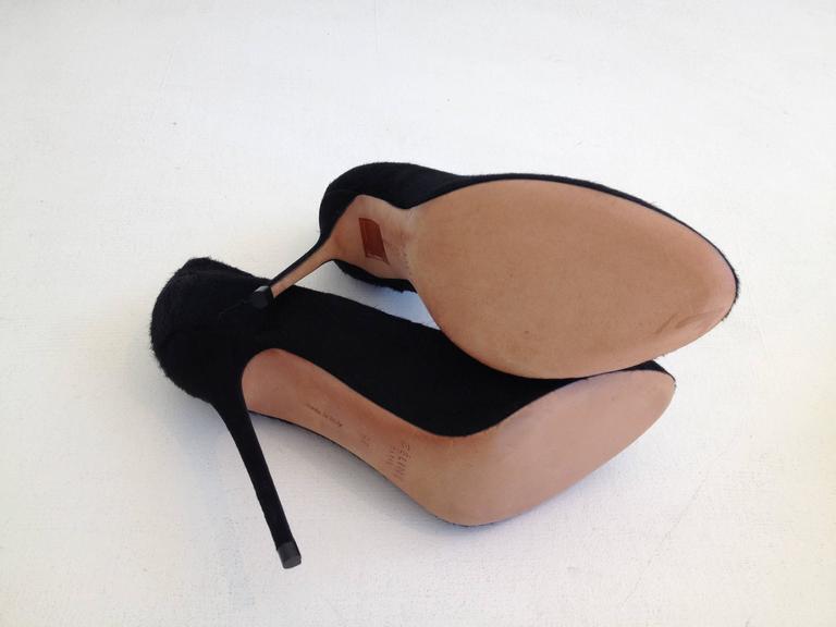 Celine Black Ponyhair Heels Size 37 (6.5) For Sale 3