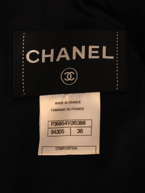 Chanel Black Jacket with Zippers Size 36 (4) For Sale 6