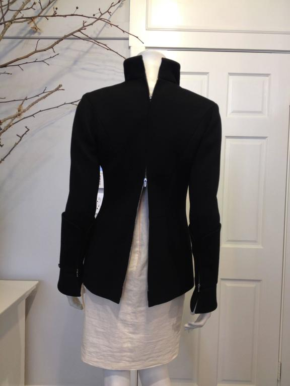 Chanel Black Jacket with Zippers Size 36 (4) For Sale 1
