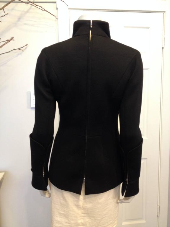 Chanel Black Jacket with Zippers Size 36 (4) In Excellent Condition For Sale In San Francisco, CA