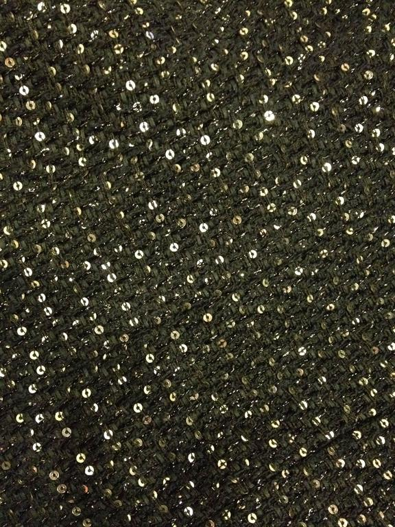 Chanel Black Tweed Jacket with Sequins Size 36 (4) 5