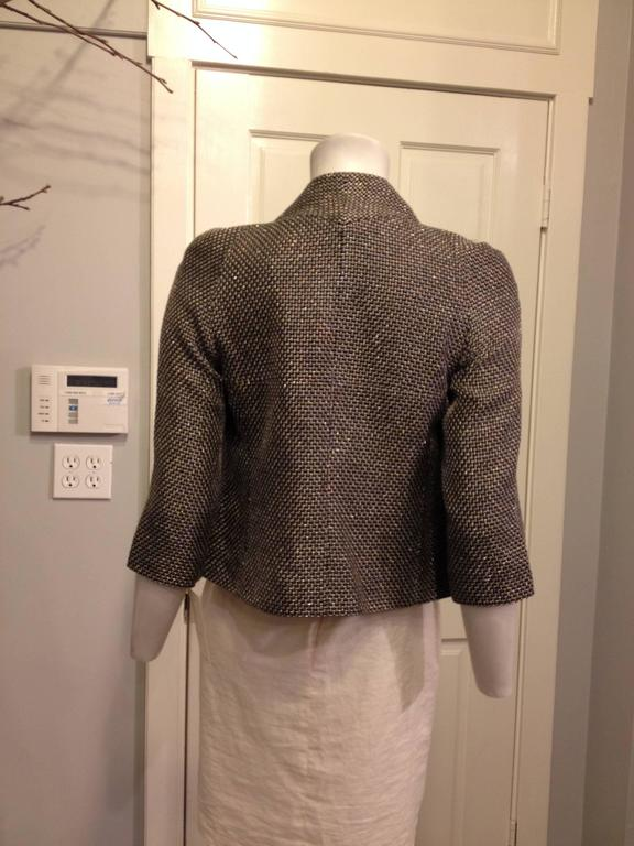Chanel Black Jacket with Gold and Silver Metallics Size 34 (2) In Excellent Condition For Sale In San Francisco, CA
