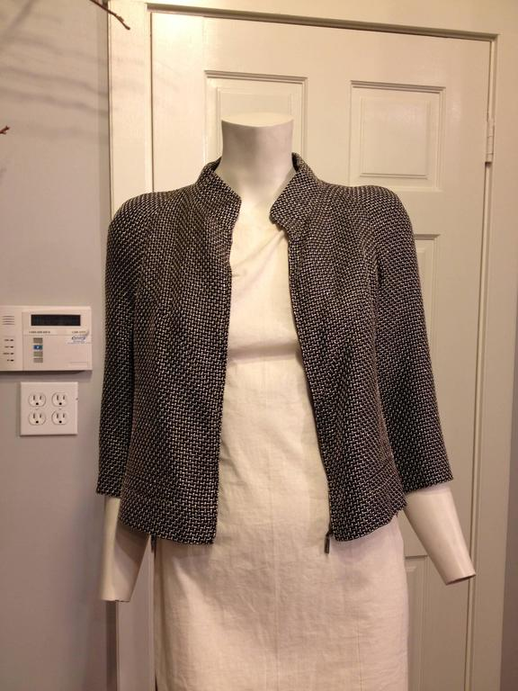 Women's Chanel Black Jacket with Gold and Silver Metallics Size 34 (2) For Sale