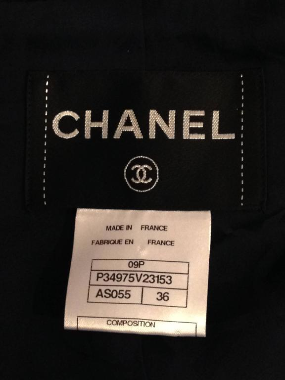 Chanel Navy Majorette Jacket with Pearls For Sale 6