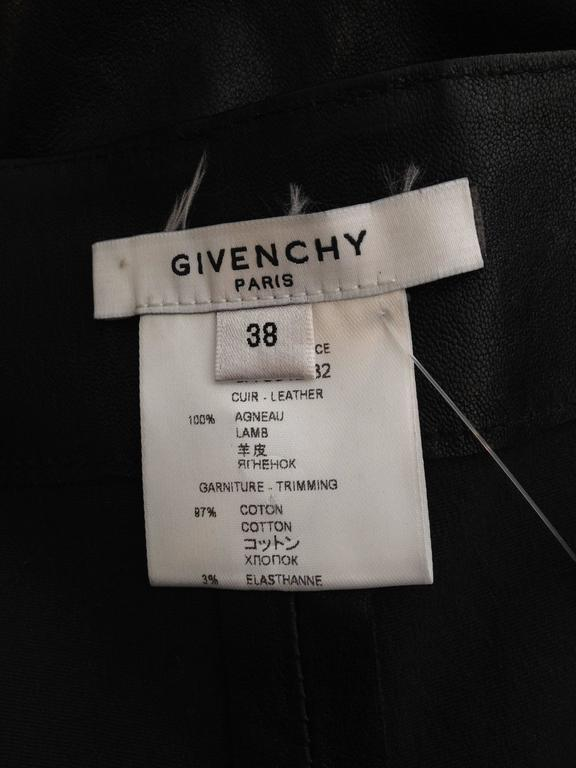 Givenchy Black Leather Pants Size 38 (6) For Sale 5