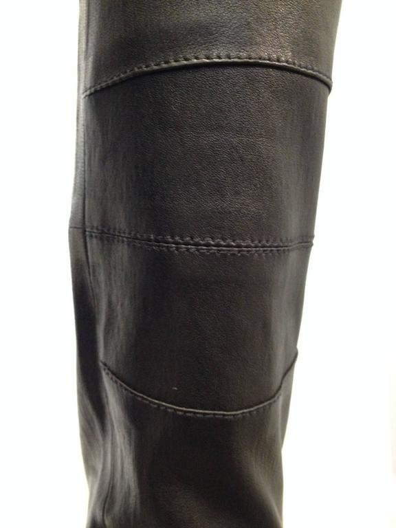 Givenchy Black Leather Pants Size 38 (6) 5
