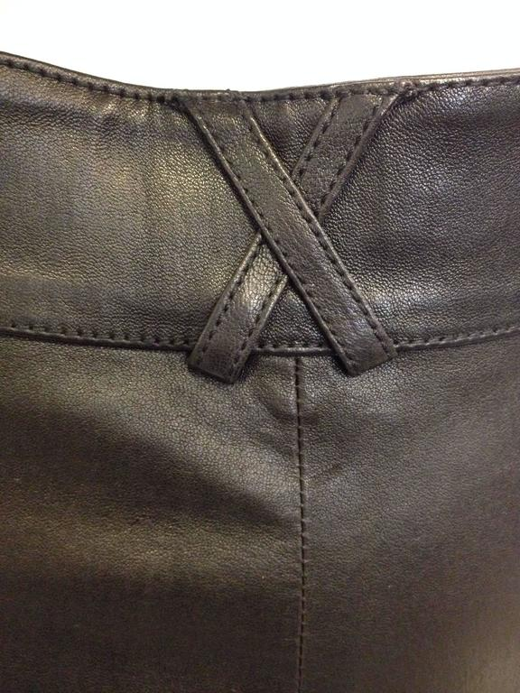 Givenchy Black Leather Pants Size 38 (6) For Sale 4