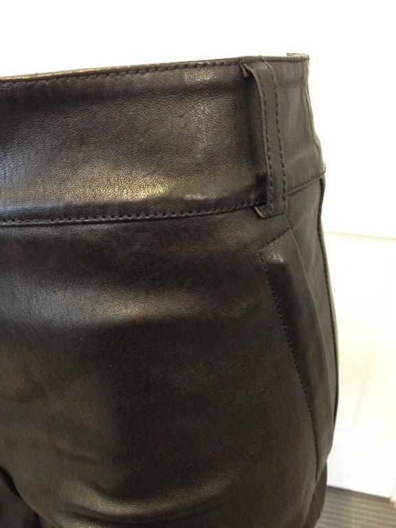 Women's Givenchy Black Leather Pants Size 38 (6) For Sale