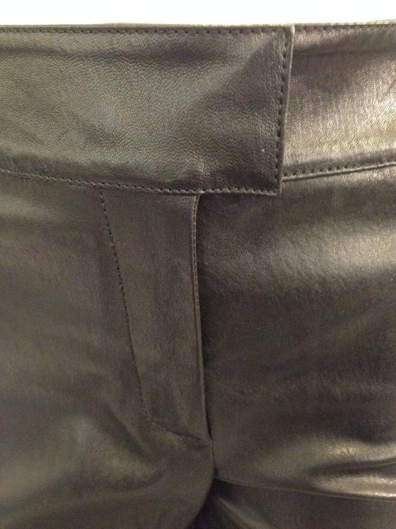 Givenchy Black Leather Pants Size 38 (6) For Sale 3