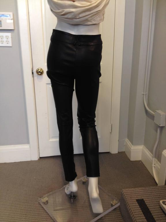Givenchy Black Leather Pants Size 38 (6) 3