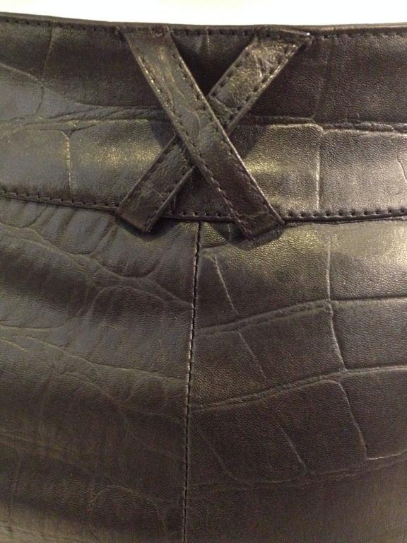 Givenchy Black Leather Pants Size 38 (6) 7