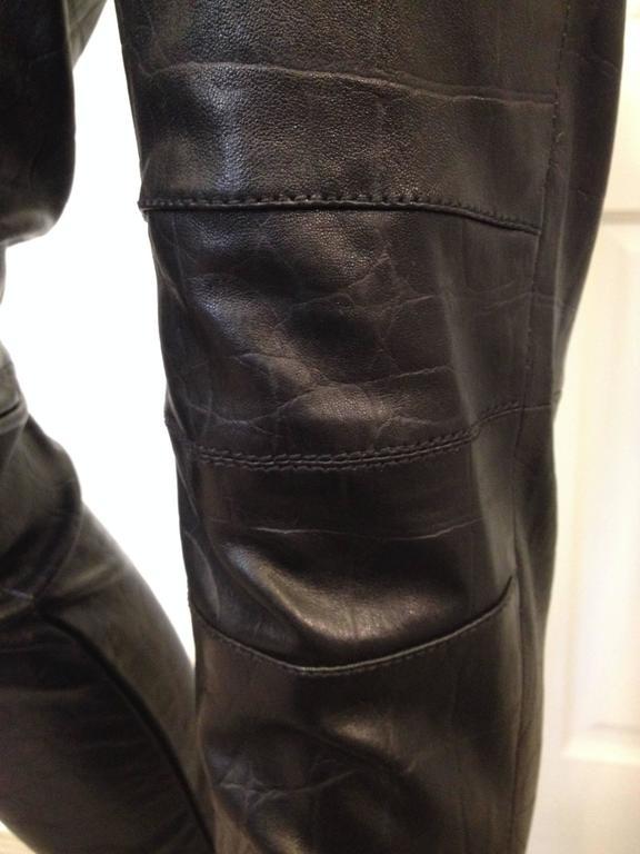 Givenchy Black Leather Pants Size 38 (6) 5