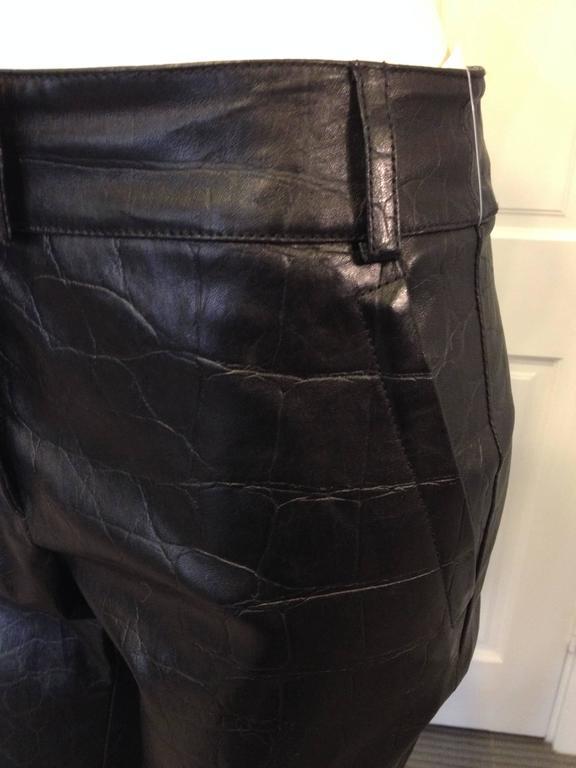 Givenchy Black Leather Pants Size 38 (6) 4