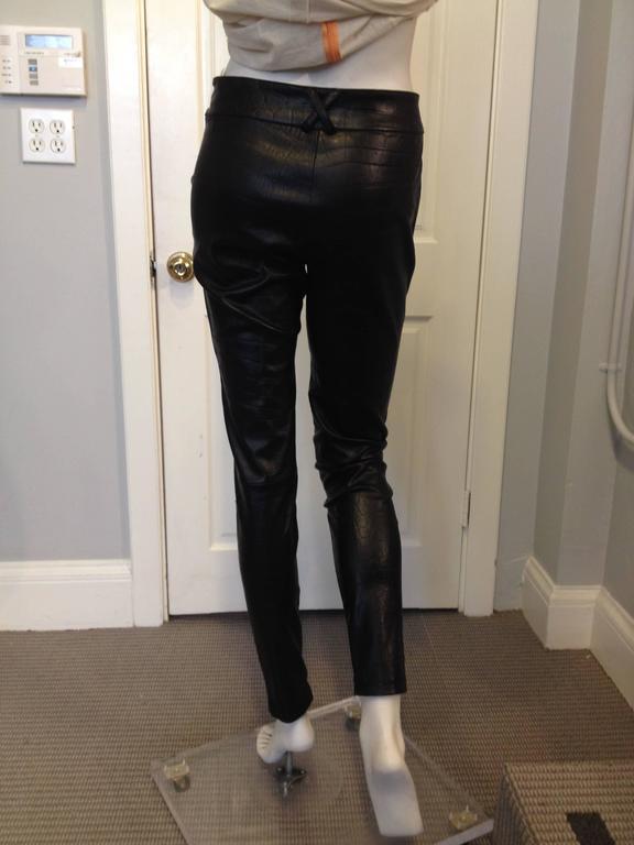 Givenchy Black Leather Pants Size 38 (6) 3