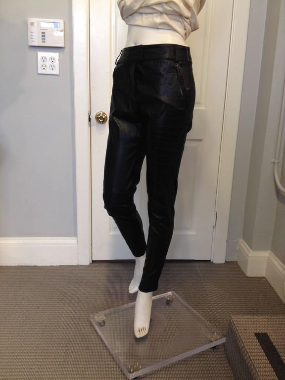 Givenchy Black Leather Pants Size 38 (6) 2