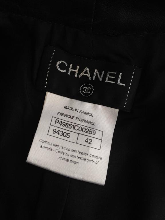 Chanel Black Leather Culottes Size 42 (10) 9