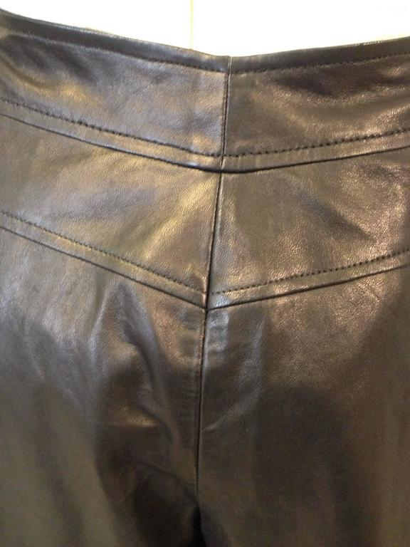 Chanel Black Leather Culottes Size 42 (10) 5