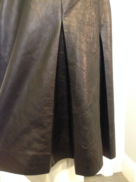 Chanel Black Leather Culottes Size 42 (10) 6