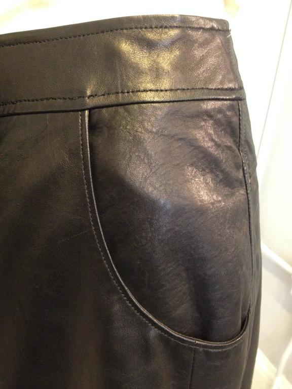 Chanel Black Leather Culottes Size 42 (10) 4
