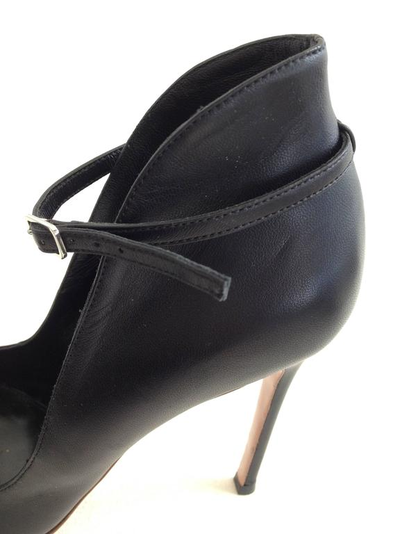 Gianvito Rossi Black Pumps with Ankle Strap Size 37.5 (7) 7