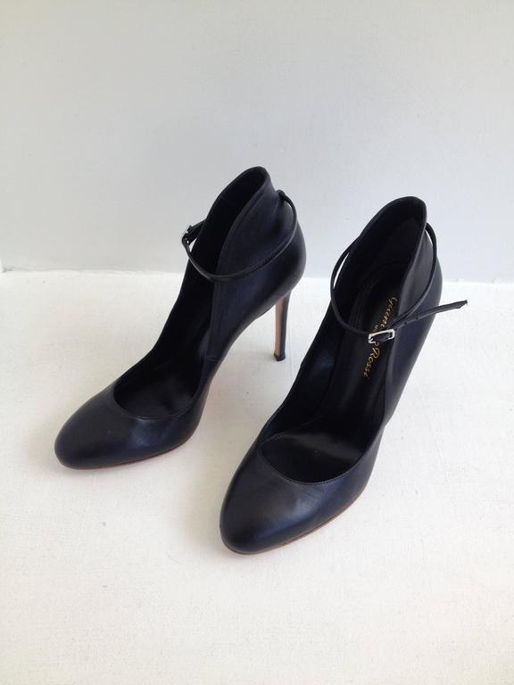 Gianvito Rossi Black Pumps with Ankle Strap Size 37.5 (7) 3