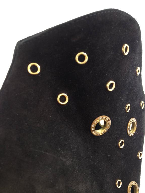 Giuseppe Zanotti Black Suede Peeptoe Bootie Size 38 (7.5) 6