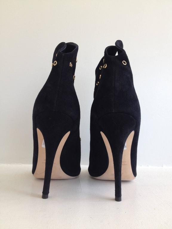 Giuseppe Zanotti Black Suede Peeptoe Bootie Size 38 (7.5) 4
