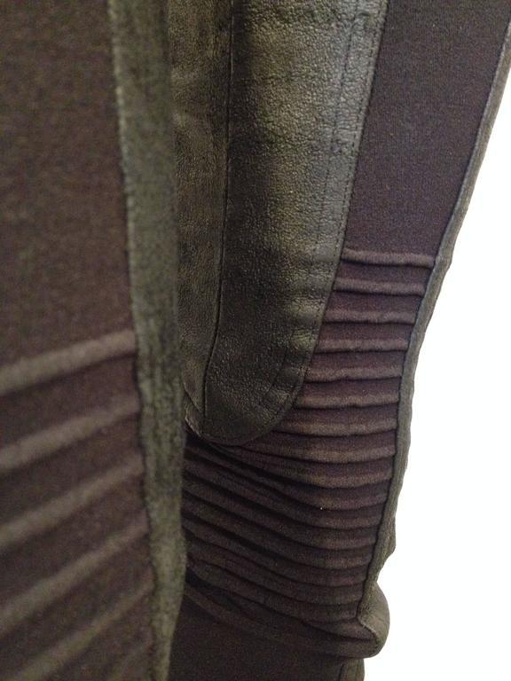 Rick Owens Black Leather Leggings Size 6 5