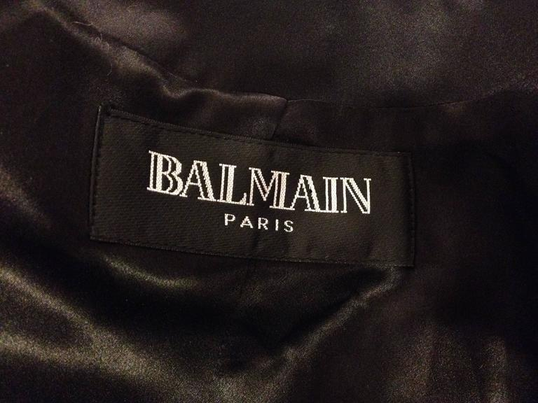 Balmain Black Tuxedo Jacket with Silver Crest Size 36 (4) 8