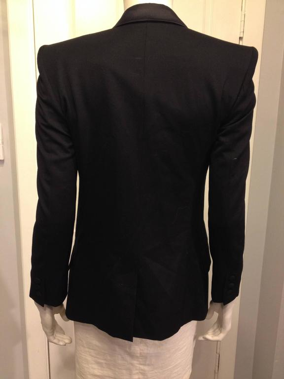 Balmain Black Tuxedo Jacket with Silver Crest Size 36 (4) 3