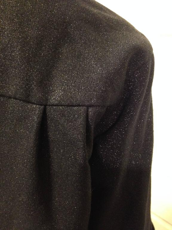 Women's Chanel Navy Sparkly Jacket Size 34 (2) For Sale