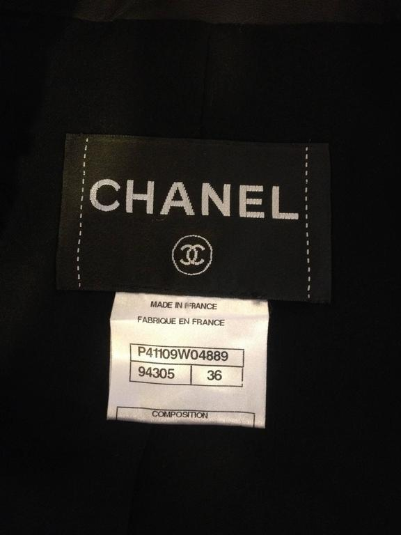 Chanel Black Leather Cutout Jacket 8