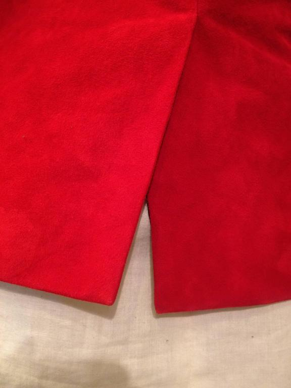 Balmain Red Suede Blazer For Sale 3