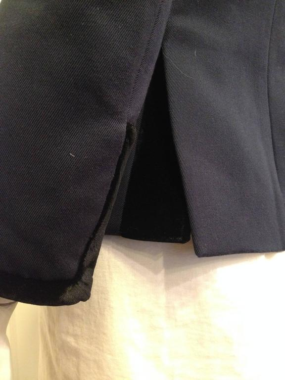 Balenciaga Navy Blazer with Gold Crest 6