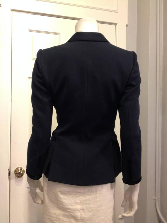 Balenciaga Navy Blazer with Gold Crest 3