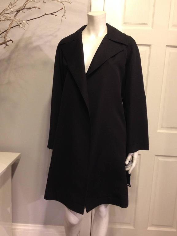 The Row Black Trench Coat 2