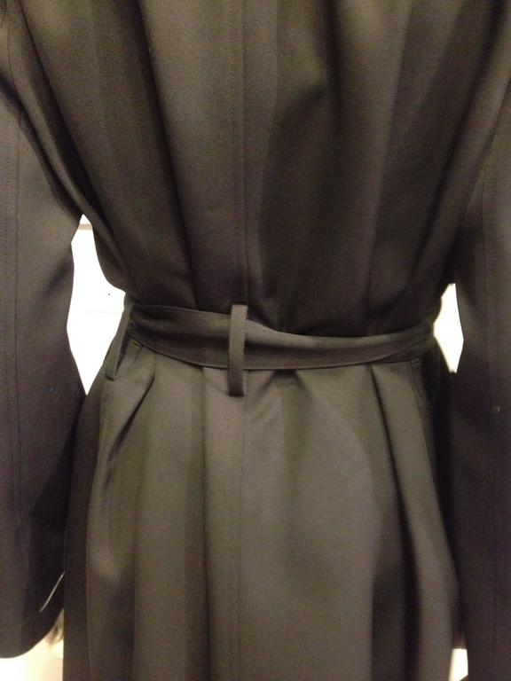 The Row Black Trench Coat For Sale 3
