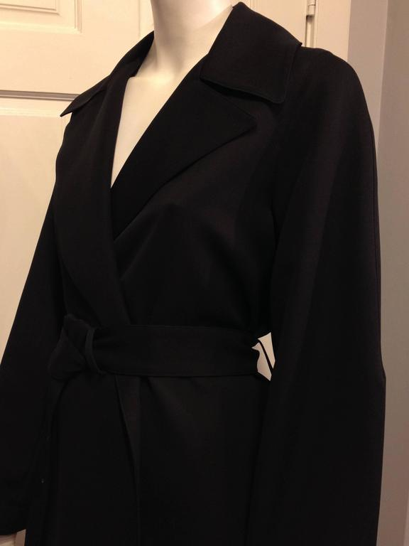 The Row Black Trench Coat For Sale 2