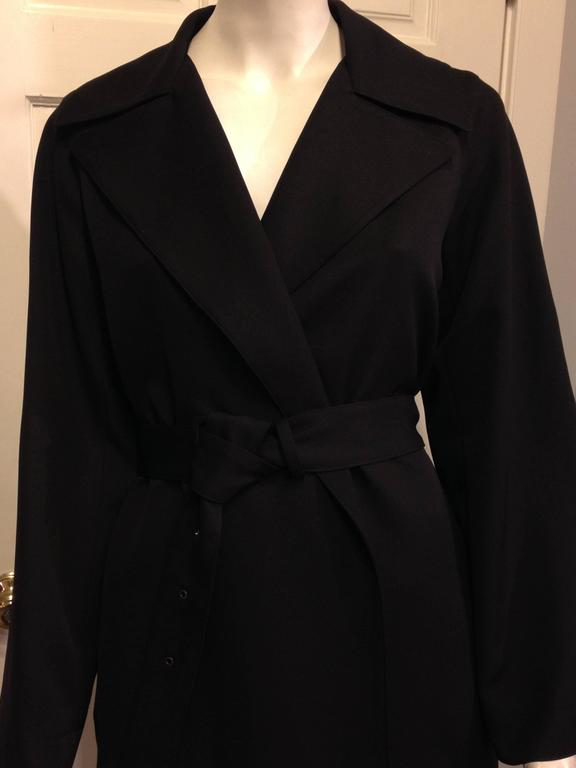 The Row Black Trench Coat For Sale 1