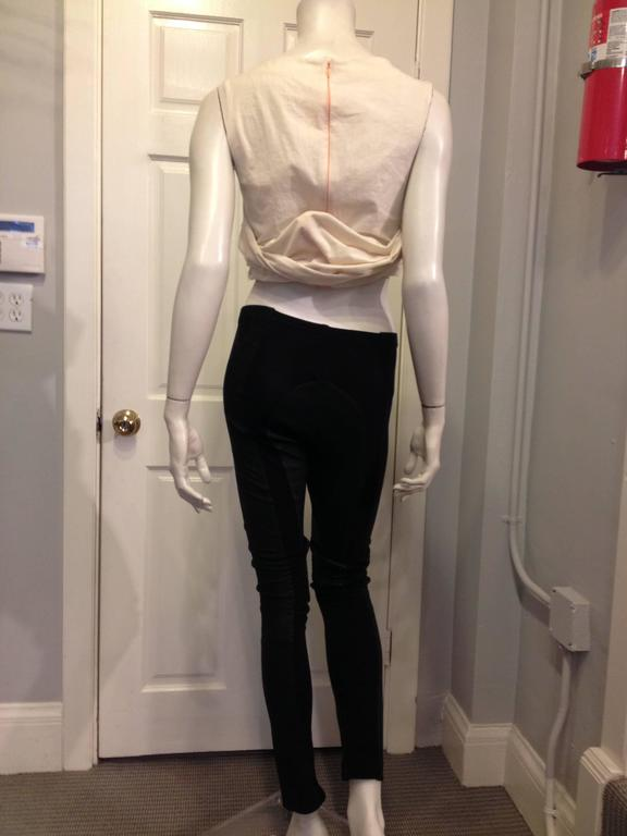Rick Owens Black Leather Leggings In Excellent Condition For Sale In San Francisco, CA
